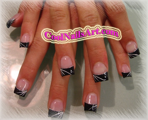Pink zebra nails art design