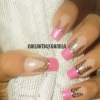 Draped curtains pattern Nail Design