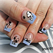 Snoopy Cartoon Nail Art