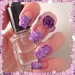 Nice Looking Purple Polish Tip Nails