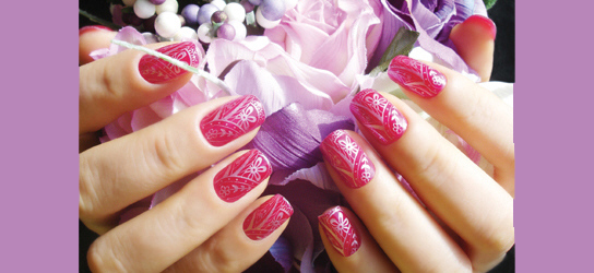 Nail Design Using Stamps