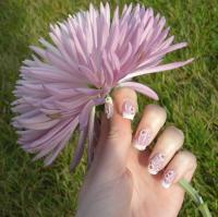 Purple Flower Nail Design