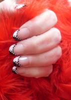 Black and White Poka Dot Nail Design