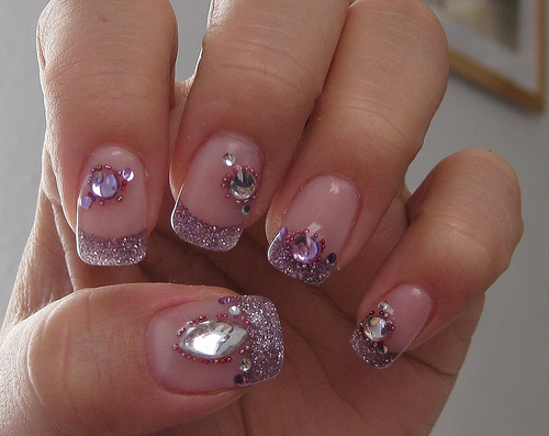 Glitter pink different nail designs pinterest
