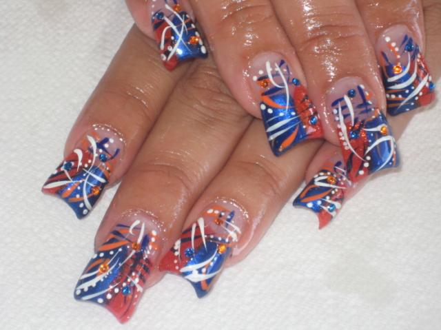 Cool Nail Design for 4th of July - Independence Day :: Nail Art