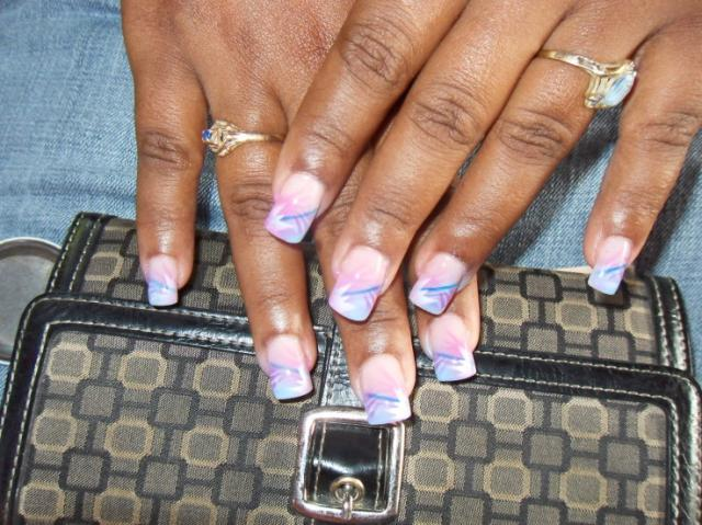 The Captivating Pink zebra nails art design Image