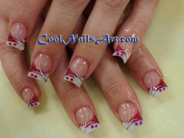 cute nail designs for valentines day. Heart French Tip Nail Design For Short Nails (Valentine's Day Nails)