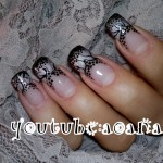 Black and Gray Nail Art – Halloween 2011