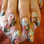 Cool Shinny Glass Like Nail Art