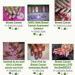 October Breast Cancer Nail Art Designs