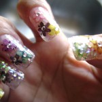 Bright Flower Nail Art Design