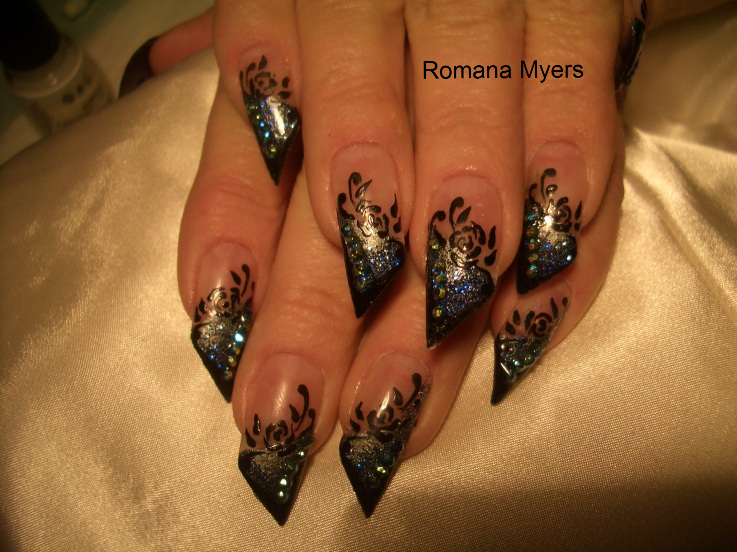 ... cool nail art design from ramona myers the cool thing about this nail