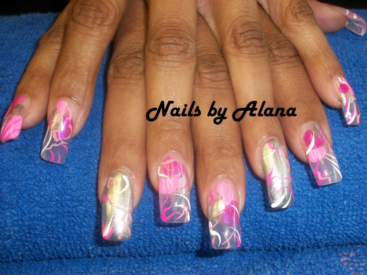 Nails With Valentine's Day Heart Design