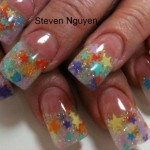 Beautiful Stars Nail Art
