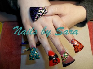 Funky Flare Nails