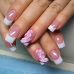 Cool Pink and White Set With 3D Flowers