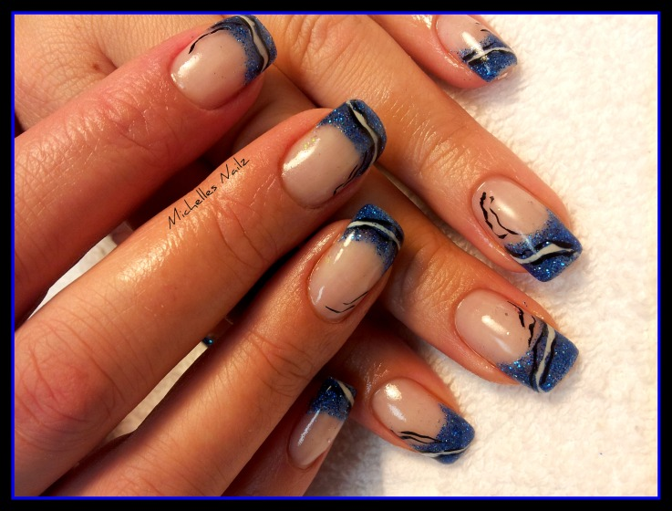 The Charming Beautiful blue nail designs Image