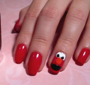 Fun Kid Nails Design – Elmo Character