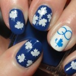 Cute Maple Leaves Stamp Nail Art