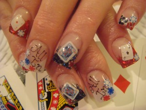 Fun Poker Playing Nail Art