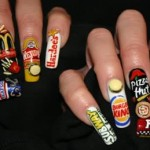 Food Brand Names Nail Art Design