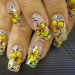 Bright Yellow Flower Summer Nail Art