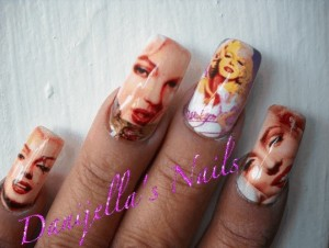 Marilyn Monroe Picture Nail Art Design