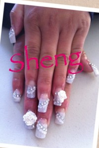 Fancy Wedding Nail Art Design