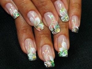 Water Paint Flowers For Acrylic Nails
