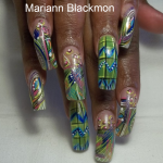 Abstract Nail Art From Vegas Nail Tech
