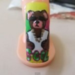 Nail Art Tutorial – Brown Bear Design
