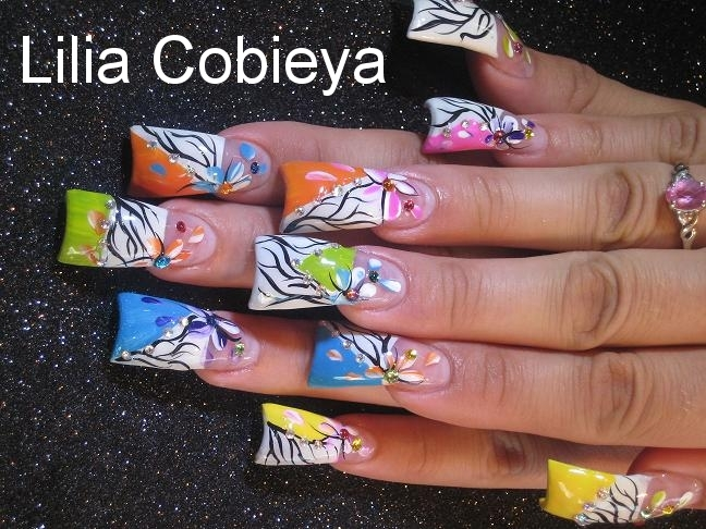And colorful nail art design from lilia cobieya this nail tech know