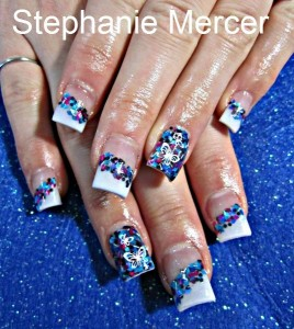 Cool Mosaic Nail Art