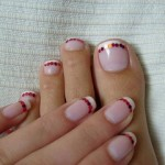 Cute French Manicure wіtһ Glitter