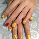 Smiley Faces Nail Art Design