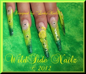 Lime Green Nail Art