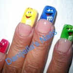 M&M Wrapper Nail Art