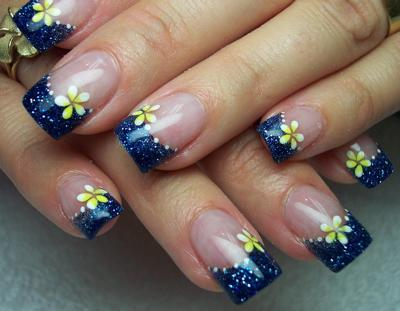 Cute Flower Designs For Nails Cute Short Nail Design