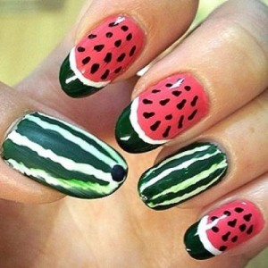 SummerTime Watermelon Nail art