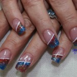 4th of July Independence Day Nail Design