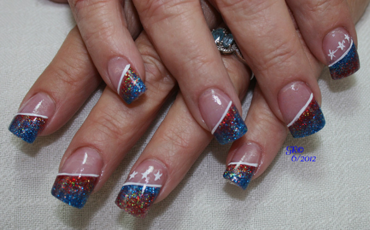 4th of July Independence Day Nail Design :: Nail Art Design From