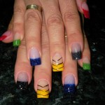 Colorful Rainbow Nail Design