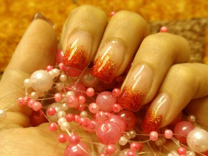 Lovely Red Tip Nail Design