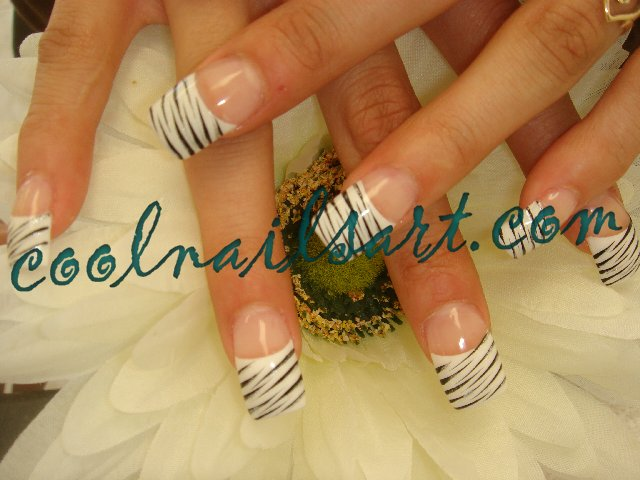 Basic Zebra Nail Design