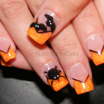 Spider Nail Design for Halloween Party