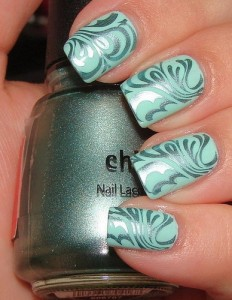 Abstract Nail Design with Just Polish