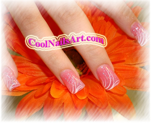 Nail Design – A Wave Of Orange