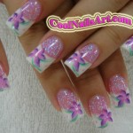 Purple Stars Nail Design