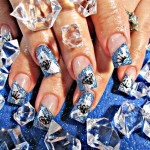 Black Diamond Nail art