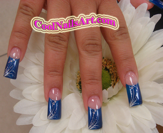 "Nails Design – ""BlueFeather"""